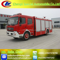China brand new fire truck, 6000L DONGFENG water tanker fire truck for sale