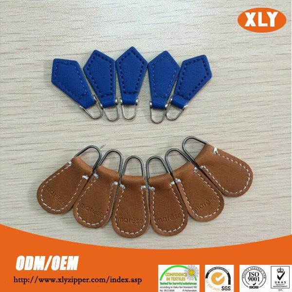 high quality Customized various PU leather pullers for coat wholesale