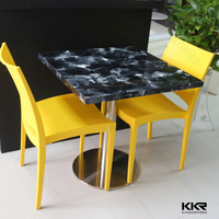 KKR Solid surface cultured marble dining table marble
