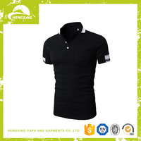 custom 100% cotton cheap black blank polo tshirt wholesale in china