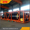 Oil heating system bitumen tank container