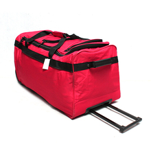 Convenient duffel travel trolley luggage bag, portable oversized large capacity waterproof polyester travel Trolley duffle bag