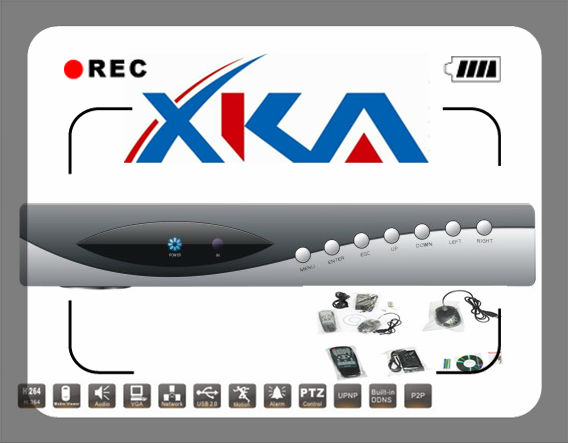 4ch Stand Alone Dvr With H.264 Dual-stream Video Compression