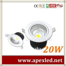 20watts cob led ceiling light recessed