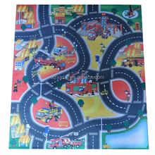 FELT PLAY MATS WITH TRAIN TUNEL TRUCK KIDS PALY MAT