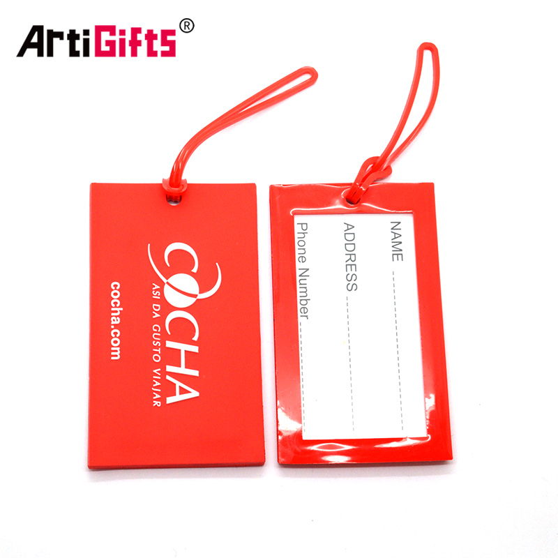 Personalized Luggage Tag Maker Wholesale Custom Logo Cheap Bulk Travel Airplane Soft Pvc Luggage Tag