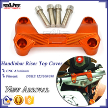 BJ-HRC-KT001 CNC Dirt bike Duke 200 Handlebar Riser Mount Clamp Cover Bar Riser Holder Adaptor Cover for KTM Duke125 390