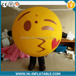 Hot sale advertising Custom Costume Inflatables,Inflatable ball costume; moving cartoon