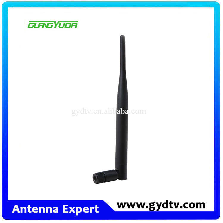 High quality 360 degree rotation 2.4g 5.8g rubber duck 5dbi wifi dual band omni antenna