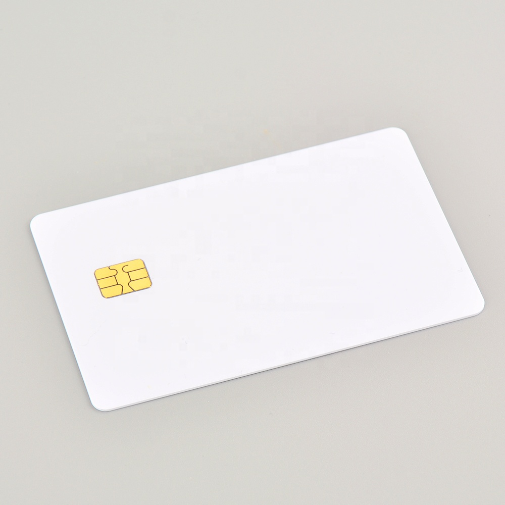 Blank White <strong>Card</strong> with Chip FM4442 + Track 2 Hico Blank Magnetic Stripe