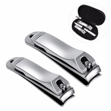 Nail Clippers Set Stainless Steel Fingernail and Toenail Clipper Cutter Pedicure Kit Professional Grooming Nail Tool