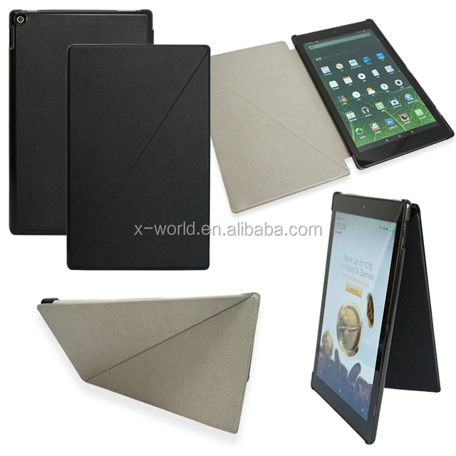 flip stand PU leather case for kindle fire 7 unique design leather cases