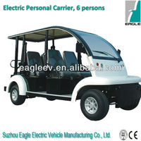 low speed 6 seats Electric people mover car, CE approved