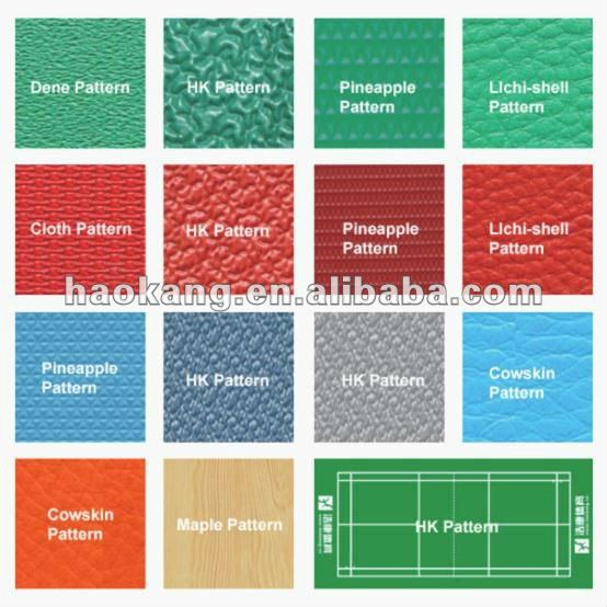 Pineapple pattern badminton court PVC SPORTS FLOOR