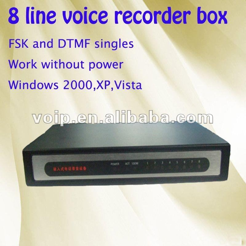 High quality 8 line voice recorder tv recording device usb