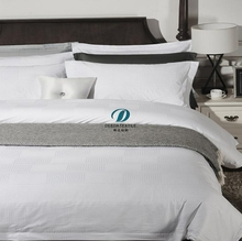 Deeda factory pure white cotton jacquard hotel life sheet sets