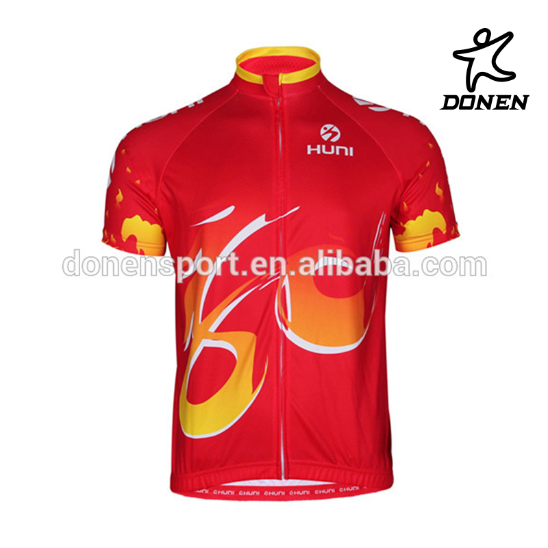 HUNI custom printed cycling short sleeve jersey
