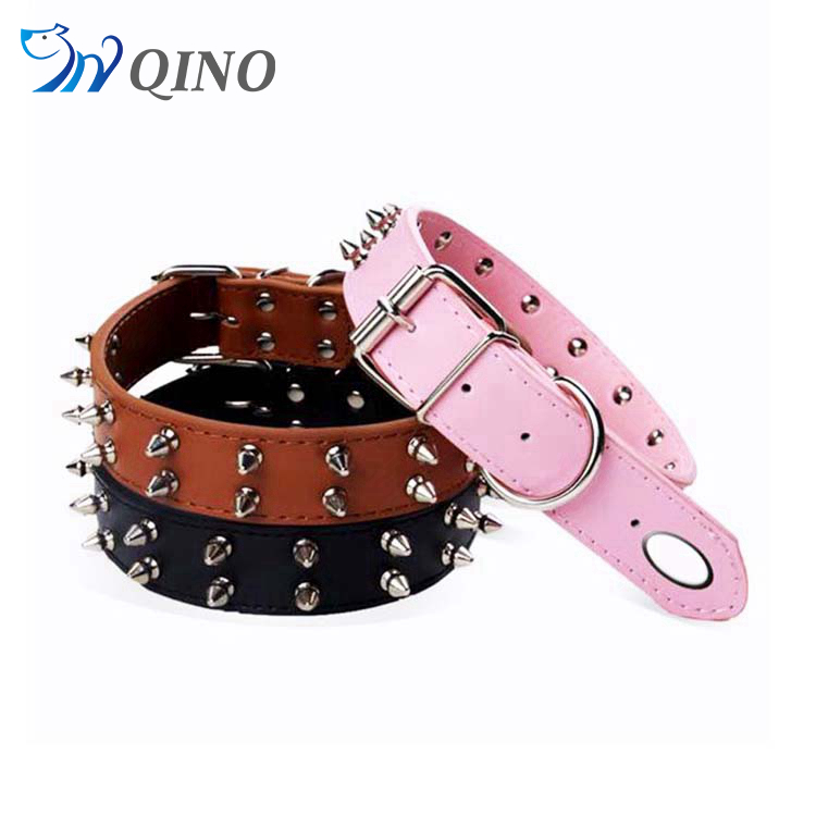 QN-A-6278 dog collar metal spikes