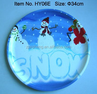 European Fashionable First Rate High Quality food grade christmas kids plate/dish Bpa free