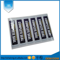 Surfuce Glossy Hot Sliver Label Sticker Strong Adhesive