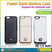 Wholesale External backup charger battery power bank case for iphone6 support ios8
