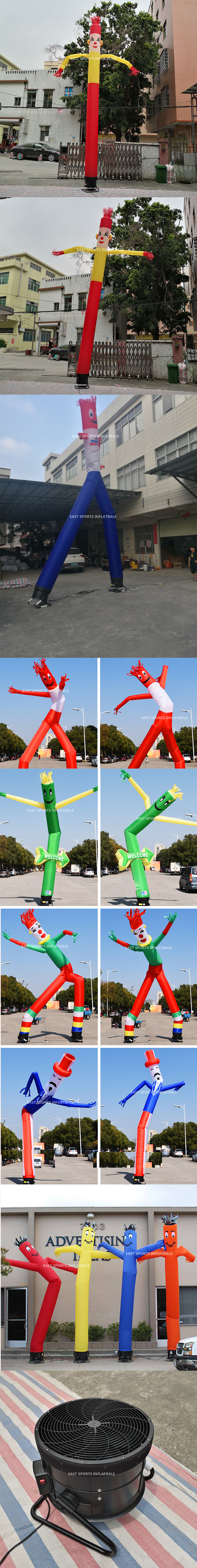 Wholesale small tube advertising clown inflatable Inflatable desktop sky air dancer