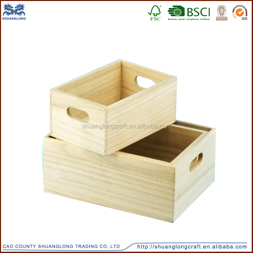 Caoxian shuanglong cheap natural color wooden fruit crates for Where do i find wooden crates