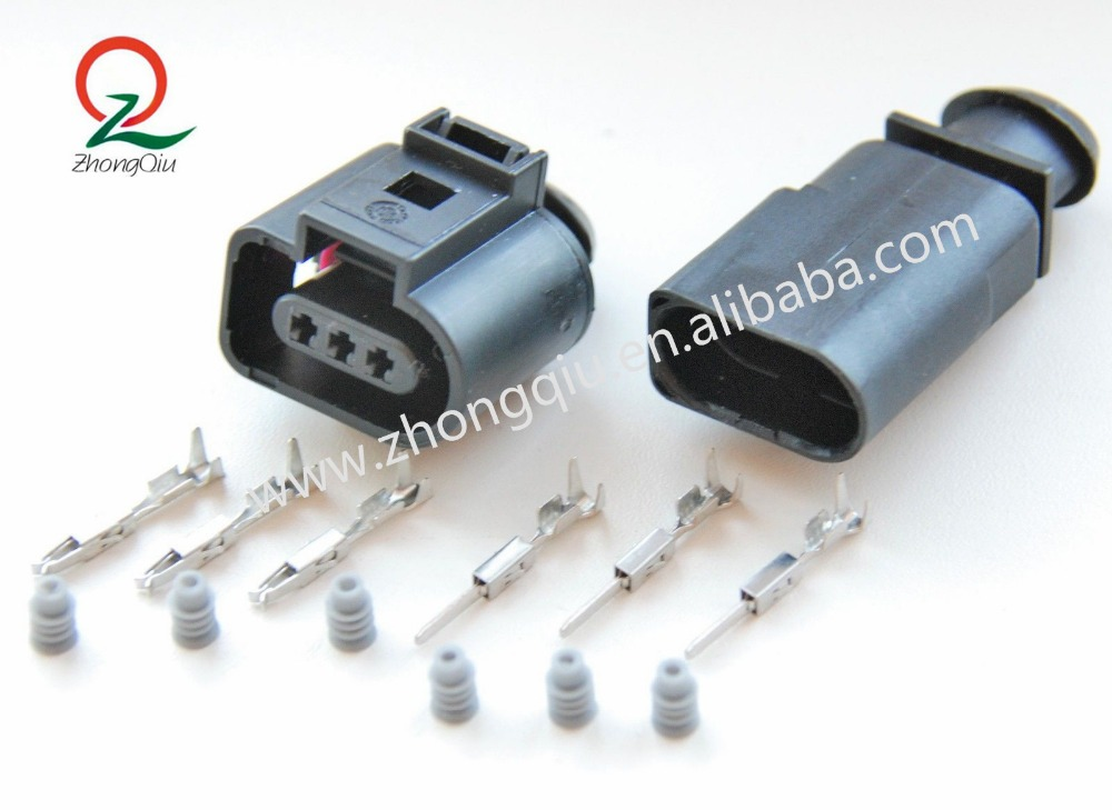 Hottest Factory Price 3pin male female electrical vw audi seat skoda connector 1J0973703 3D0973703