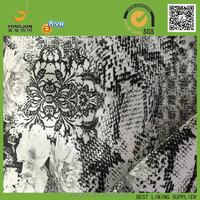 100% polyester satin snakeskin and flower design print lining fabric for men coats