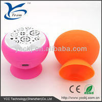New design 2013 mini silicone waterproof hands-free sucker bluetooth speaker