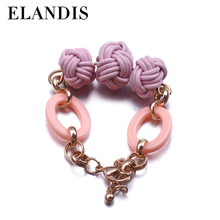 E-ELANDIS Custom design cotton friendship woven bracelet