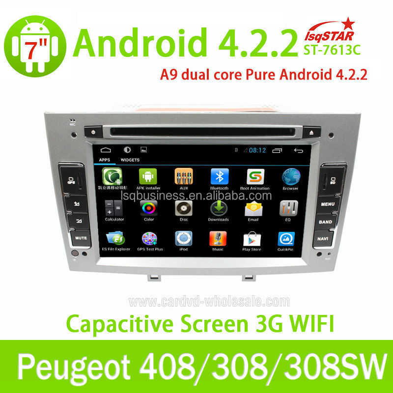 peugeot 408/ 308 Car Audio DVD With GPS navigation Android 4.2.2 3G wifi