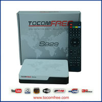 2015 Newest digital satellite receiver tocomfree s929 with iks sks free and price is good