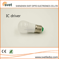 2 years warrenty Aluminum + PC IC led bulb E27 3w from China factory