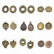 Many Shapes Pendant Settings Blanks Cabochon Pendant Tray Wholesale Jewelry Findings