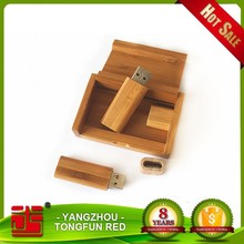 wooden oem logo & high quality usb with logo customized