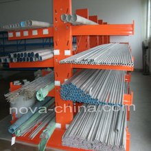 Steel and plastic pipe cantilevered rack