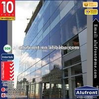 australia designed aluminium glass curtain wall/ glass curtain wall for residential