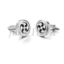 Newest style cufflinks for men in stainless steel diffuser