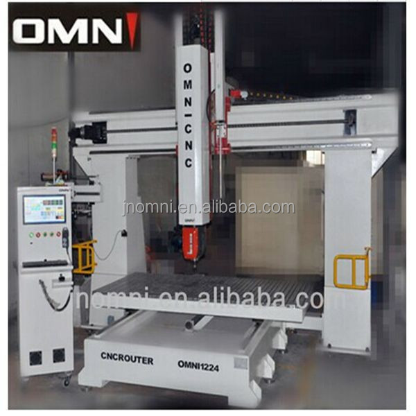 high precision good performance 5 axis cnc machine with 3d engraving wood router