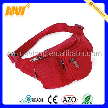 Red hip pack waist bag funny pack
