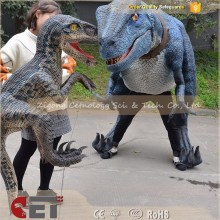 CET-H460 raptor dinosaur costume adult walking adult cartoon game costumes dinosaur