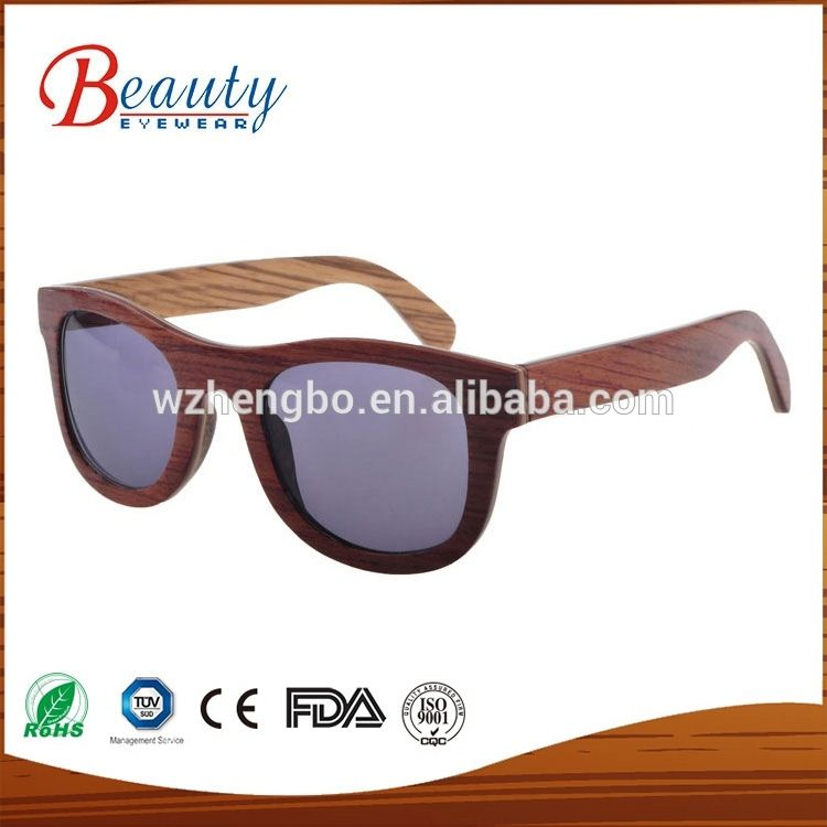 2016 Bubinga wooden sunglasses customised logo handmade bamboo sun eyewear