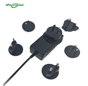 smart wall interchangeable plug 25.5v 1a lifepo4 battery charger CE CB CUL PSE KC certificated