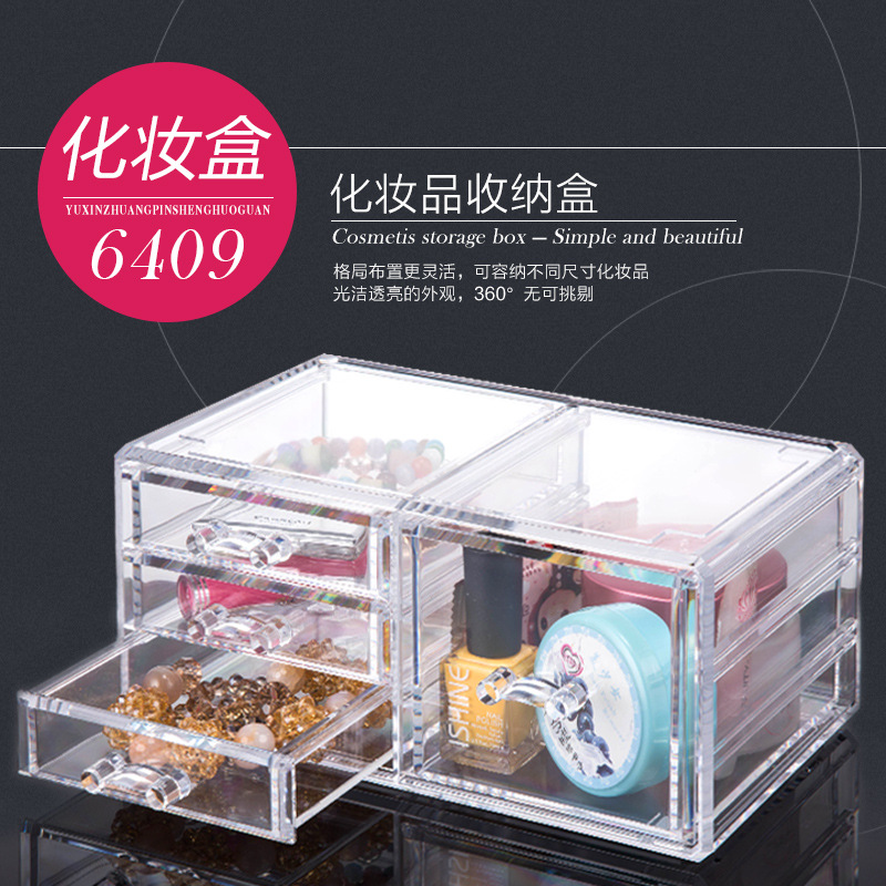 Premium Quality Plastic Cosmetic Storage and Makeup Palette Organizer