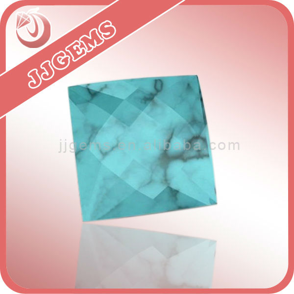 rough square shape blue turquoise stone