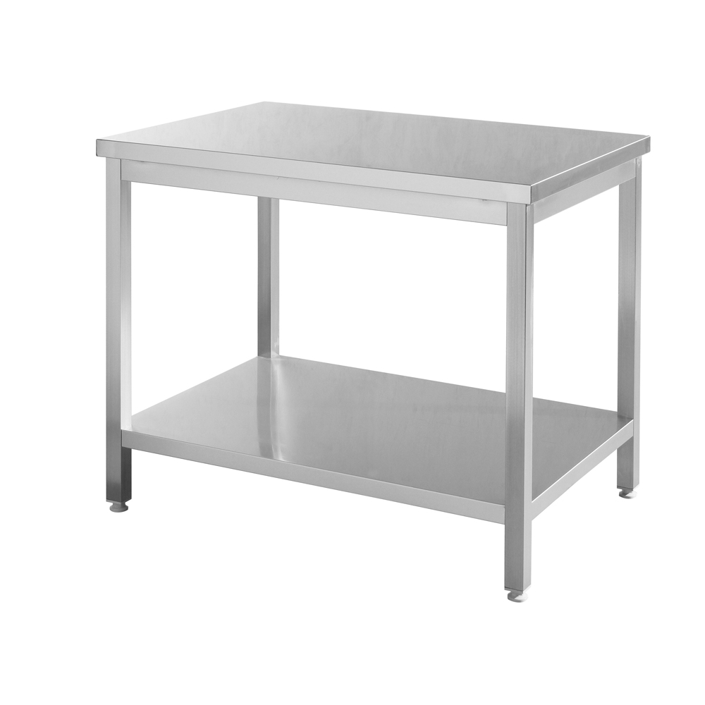 OWNFIT European Style Work Table Undershelf Kitchen Stainless Steel Work Bench Hotel Restaurant