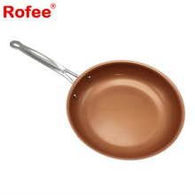 10 Inch Copper Infused Non-Stick Fry Pan, Works on any Cooktop