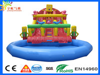 Inflatable Sponge Bob Water Slide With Giant Pool/Inflatable Water Sports