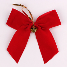 Wholesale cheap velvet christmas ribbon bow with wire twist tie